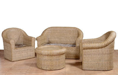 Cane Sofa Set for your Home Office Decor 2 1 1 Setting(#566)-gallery-0