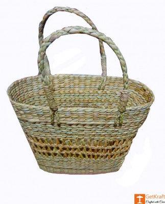 Medium Sized Natural Straw Tote Handbag(#579)-gallery-0