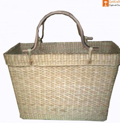 Large Natural Straw Shopping bag with Handle(#586)-gallery-0