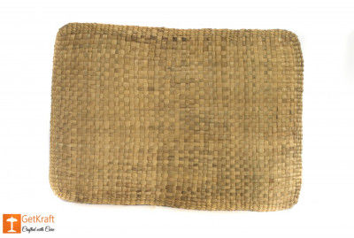 Material Natural Straw Mat with round ends(#630)-gallery-0