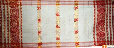 Assamese Gamosa (Pat Silk with Guna)(#631)-gallery-0