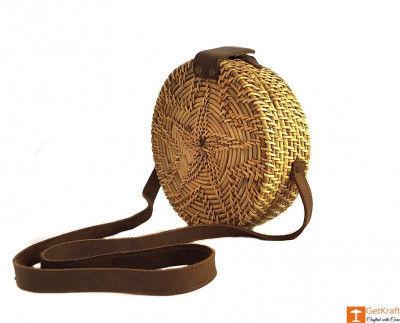 Cane Leather Designer Sling Bag(#638)-gallery-0