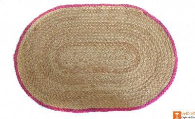 Jute Handmade Doormat(#640)-gallery-0
