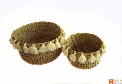 Kauna Handmade Laundry Basket (set of 2)(#643)-gallery-0