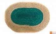 Jute Handmade Doormat (Green and Natural Jute Color)(#648) - Getkraft.com
