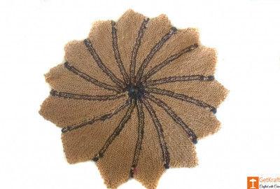 Star-shaped Jute Doormat (Multicolored)(#652)-gallery-0