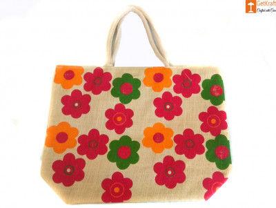 Multipurpose Eco-friendly Jute Bag (Multicolored)(#657)-gallery-0