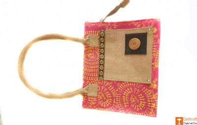 Jute Women Tote Bag (Multicolored)(#661)-gallery-0