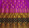 Black and Purple Traditional Pat Mekhela Chadar(#675)-thumb-1