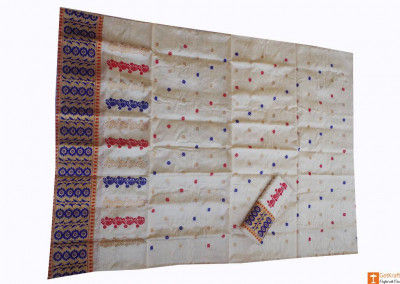 Pat Muga Silk Assamese Chadar Mekhela(#680)-gallery-0