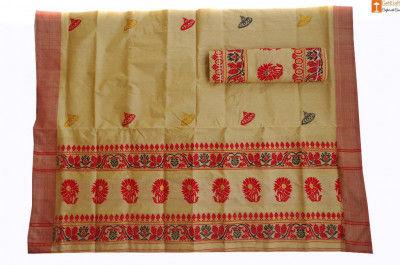 Ethnic Riha Mekhela Chadar Set made from Muga(#687)-gallery-0