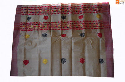 Assamese Mekhela made from Toss silk(#692)-gallery-0