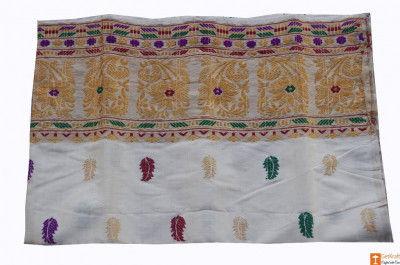 Toss Pat Assamese Mekhela from Sualkuchi Assam(#694)-gallery-0