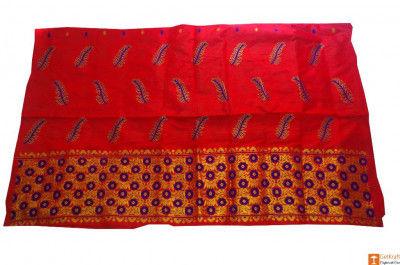 Pat Silk Assamese Mekhela Chador Set(#707)-gallery-0