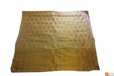 Ethnic Golden Color Mekhela Chador Set from Sualkuchi(#710)-gallery-0