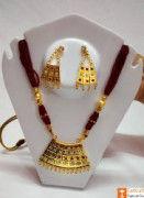 Half Junbiri Necklace Set Assamese Designer Jewellery from Assam(#734) - Getkraft.com