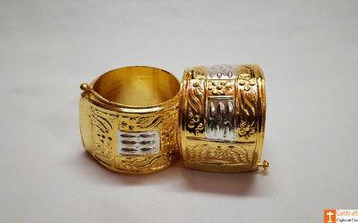 Classic Assamese Traditional Jewellery Gamkharu - Pair of Bangles(#737)-gallery-0