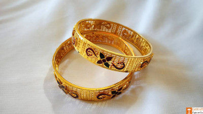Stunning Gold Jewellery Bangles from Assam(#743)-gallery-0