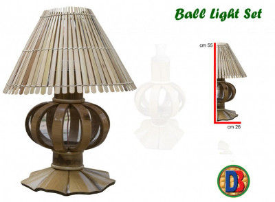 Bamboo Designer Table Lampshade by DB(#772)-gallery-0
