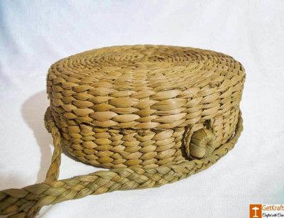 Natural Straw Stylish Handmade Round Sling Bag(#785)-gallery-0