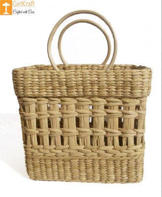 Natural Straw Handmade Net Shopping Bag(#792)-gallery-0