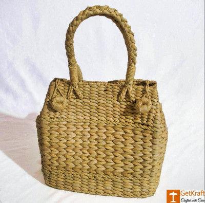 Medium Natural Straw Water Reed Handbag for Women(#794)-gallery-0