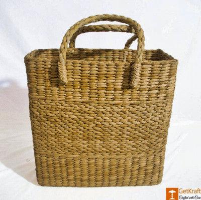 Handmade Straw Beach Picnic Shopping Bag(#797)-gallery-0