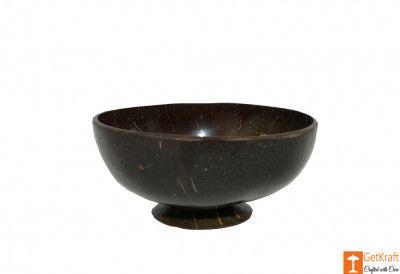 Stylish Coconut Shell Handmade Bowl(#808)-gallery-0