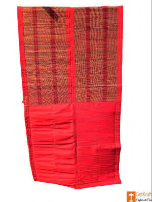 Two-fold Multipurpose Mat Eco-friendly Elephant Grass Mat(Red)(#810)-gallery-0