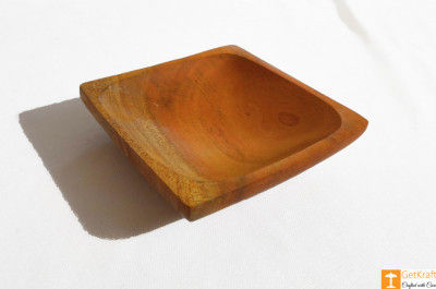 Wooden Acacia Snacks and Fruit Bowl(Set of 3)(#812)-gallery-0