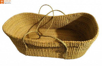 Baby Basket made from Kauna-Water Reed(#825)-gallery-0