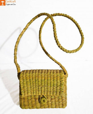 Natural Stylish Natural Straw Sling bag for Women(#844)-gallery-0