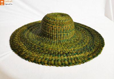 Natural Straw Trendy Round Hat(#850)-gallery-0