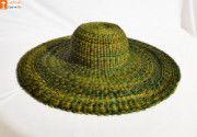 Natural Straw Trendy Round Hat(#850) - Getkraft.com