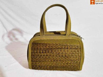 Natural Straw Designer Mini Handbag(#858)-gallery-0
