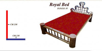 Attractive Double Bed Furniture made from Bamboo(#866)-gallery-0