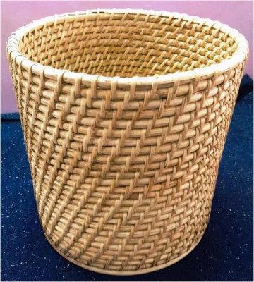 Simple Cane Rattan Basket Planter(#876)-gallery-0