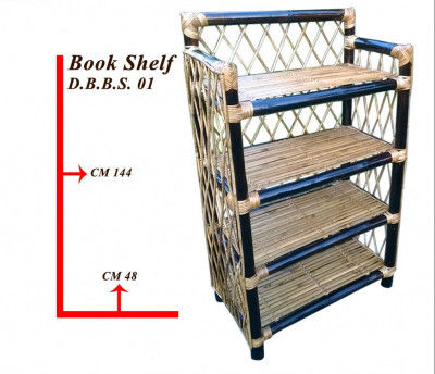 Bamboo book shelf book keeping rack(#877)-gallery-0