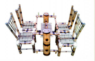 4 Seater Bamboo Dining Table(#883)-gallery-0