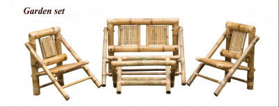 Bamboo Foldable Outdoor Chair Set(#885)-gallery-0