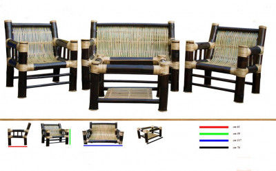 Bamboo Sofa Setting(211)(#886)-gallery-0