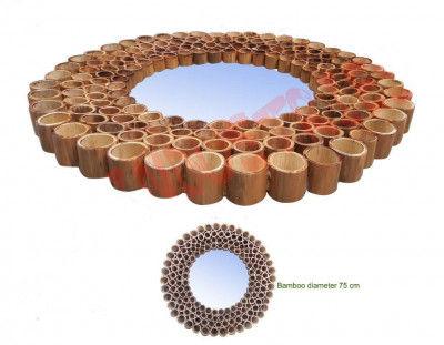 Uniquely Designed Bamboo Mirror(#907)-gallery-0