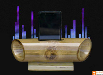 Bamboo Mobile Phone Holder cum Sound Amplifier(#908)-gallery-0