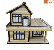 Bamboo Handicraft Table Craft Home Decor House Shape(#913) - Getkraft.com