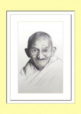 Mahatma Gandhi Pencil Sketch Poster(#931)-gallery-0