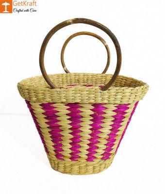 Natural Straw Multicolored Handbag(#948)-gallery-0