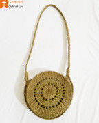 Natural Straw Round Stylish Sling Bag for Women(#962) - Getkraft.com