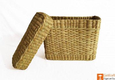 Kauna Rectangular Basket with Lid(#980)-gallery-0