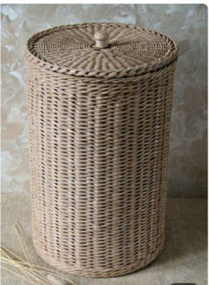 Rattan Cane Basket with Lid(#991)-gallery-0
