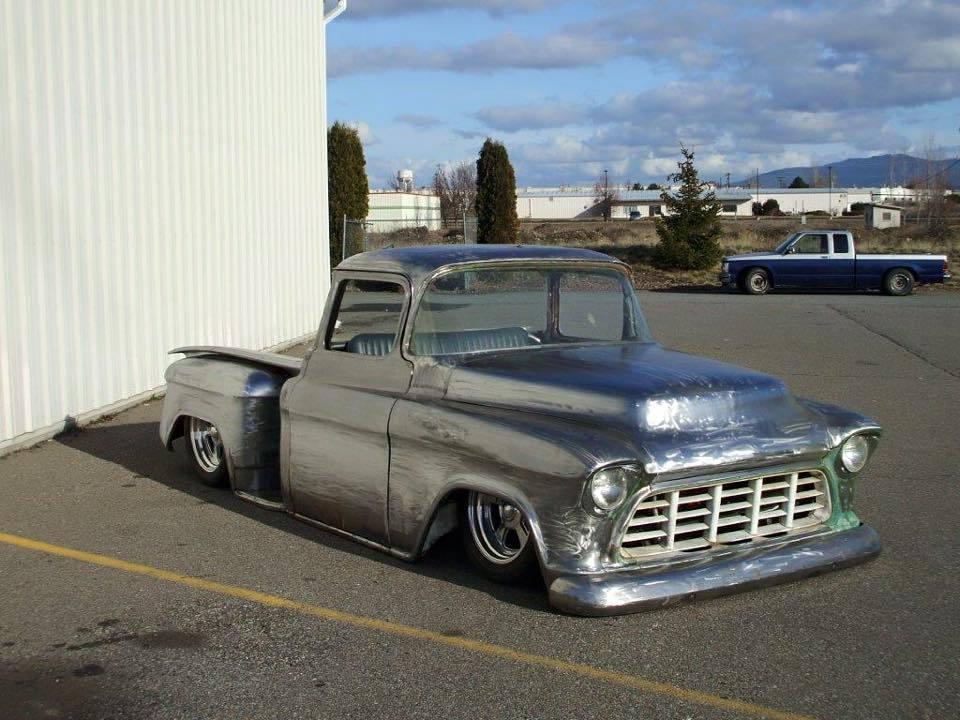 1956 Chevy swb pick full Custom Project Bagged